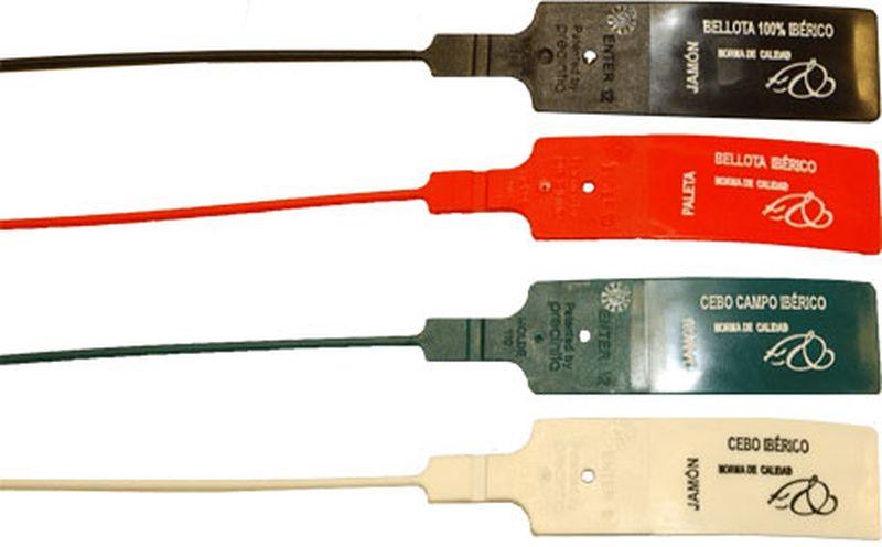 Etiquetas para el jamón ibérico y sus colores